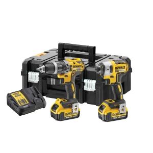 Dewalt 18v Xr Compact Brushless Combi & Impact Drill Twin Pack Dck266m2t-gb