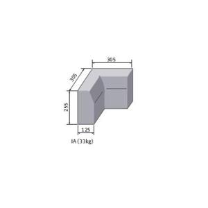 Marshalls British Standard Half Battered Internal Angled Concrete Kerb 125mm x 125mm x 255mm