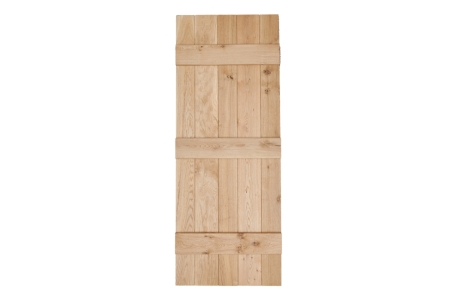 Heritage 2'6in x 6'6in V Grooved Select Rustic Oak Ledged Door