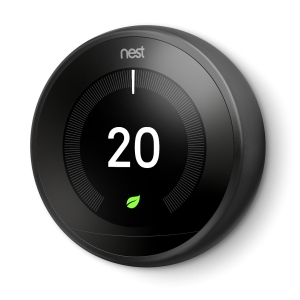Nest Black 3RD Generation Learning Thermostat (Without Adapter + USB) T3029EX