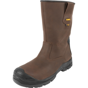 DeWalt Haines Waterproof Safety Rigger Boots Brown Leather