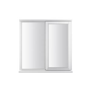 JELD-WEN Stormsure White Timber Window 2 Panel Right Opening 1195 x 895mm