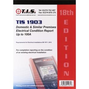 Tis Test Certificate Book Domestic Installation Condition