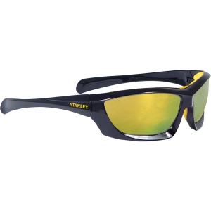 Stanley Full Frame Safety Glasses with Padded Brow Guard Fire Mirror SY180-YD Eu