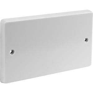 Axiom PVC Blank Plate 2 Gang