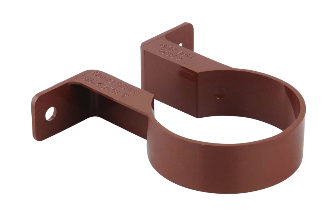 Osma RoundLine 0T034 Pipe Bracket 68mm Brown