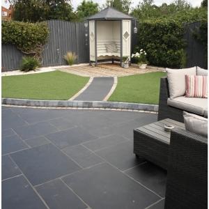 Natural Paving Black Limestone Charcoal Project 18.9m2