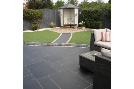 Natural Paving Black Limestone Charcoal Project 18.9m2