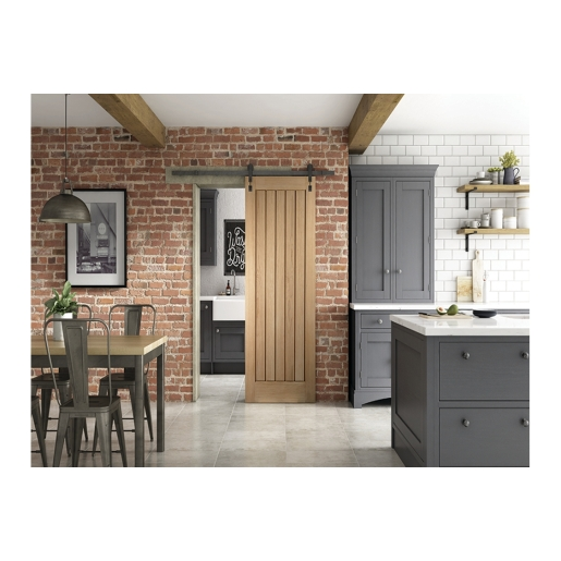 Cottage Sliding Industrial Barn Door 862mm