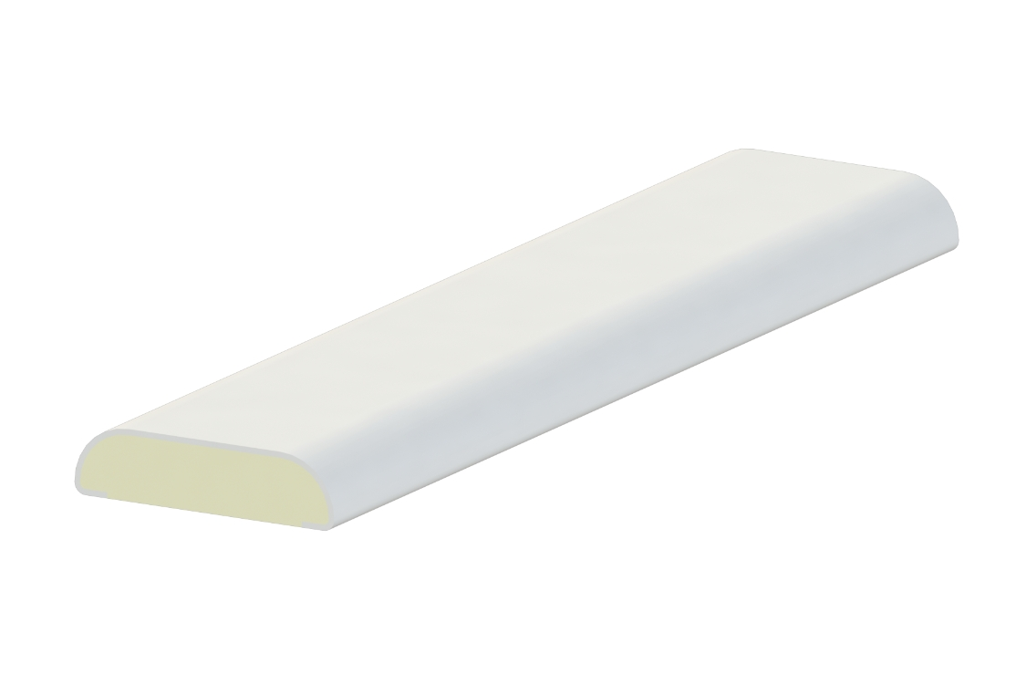 Liniar D Section White (Pack of 5)
