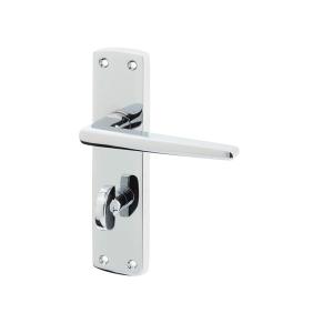 Frelan Hardware Jedo JV393PC Bray Bathroom Lever Handle Set Polished Chrome