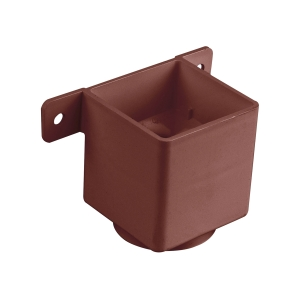 Osma SquareLine 4T823 Pipe Connector And Bracket 61mm Brown