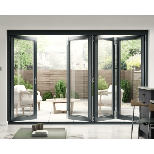 Travis Perkins 54mm Grey External Sliding Folding 3000mm Door Set