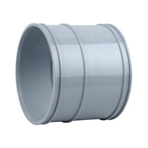 OsmaSoil 4S104G 110mm Solvent Weld Double Socket Grey