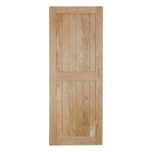 V Grooved Select Rustic Framed Ledged Oak Door