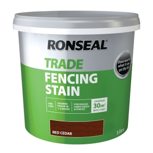 Ronseal Trade Fencing Stain Red CEDAR5L