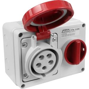 Famatel Uk Ltd Industrial Socket IP67 415V 16A 3PN+E Switched