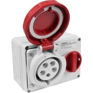 Famatel Uk Ltd Industrial Socket IP67 415V 32A 3PN+E Switched