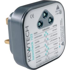 Kewtech Kewcheck 103 Socket Tester 62 x 58 x 62mm
