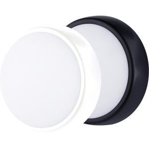 Luceco Eco Mini Round Bulkhead IP54 Supplied Black and White Trim 450LM 5.5W 4000K