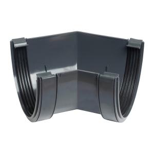 Osma Deepline Gutter Angle 45 Degree Anthracite Grey 113mm