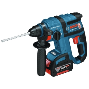 Bosch Gbh 18 V-EC 18V Brushless SDS+ Rotary Hammer Drill with 2 x 5.0 Ah Batteries in An L-BOXX