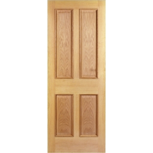 Internal 4 Panel Oak Raised Mouldings 30 Min Fire Door 1981 x 762 x 44mm