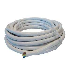 4TRADE 3183Y 1.5mm 3CORE Flex Cable White 5m