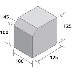 Charcon Lk Large Kerb Main Unit Hb/Bn Charcoal