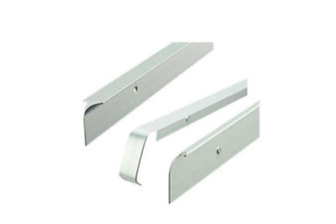 Silver Worktop Aluminium Butt Joint 630mm T30SLP6