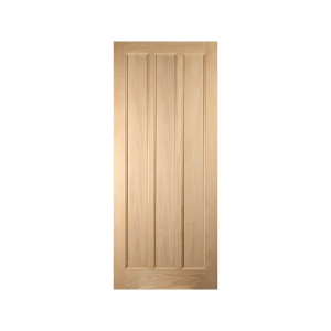 Oregon 3 Panel White Oak Exterior Door