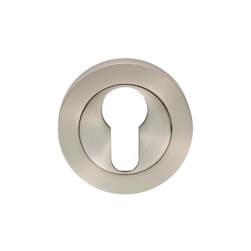 Carlisle Brass Escutcheon Euro Profile On Concealed Fix Round Rose Satin Nickel