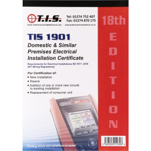 Tis Test Certificate Book Domestic Electrical Installation