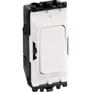MK Grid Plus 20A Switch Modules 1 Way Push to Make Dp