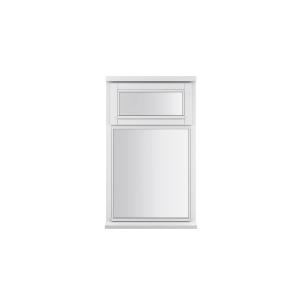 JELD-WEN Stormsure White Timber Window 2 Panel Top Opening 625 x 745mm