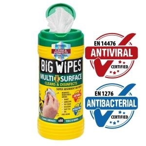 Big Wipes Antiviral Multi-Surface Bio Pro+ 80 Wipes