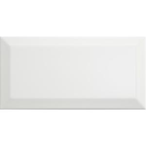 Macy White Ceramic Wall Tile 100 x 200mm Pack of 50