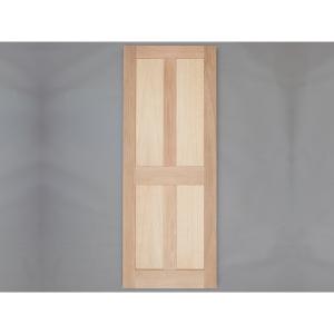 Solid Oak External Door 4 Panel External Door Custom size