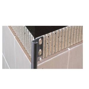 Genesis 8mm Polished Chrome Round Edge Tile Trim EAQ080.91 (Pack of 20)
