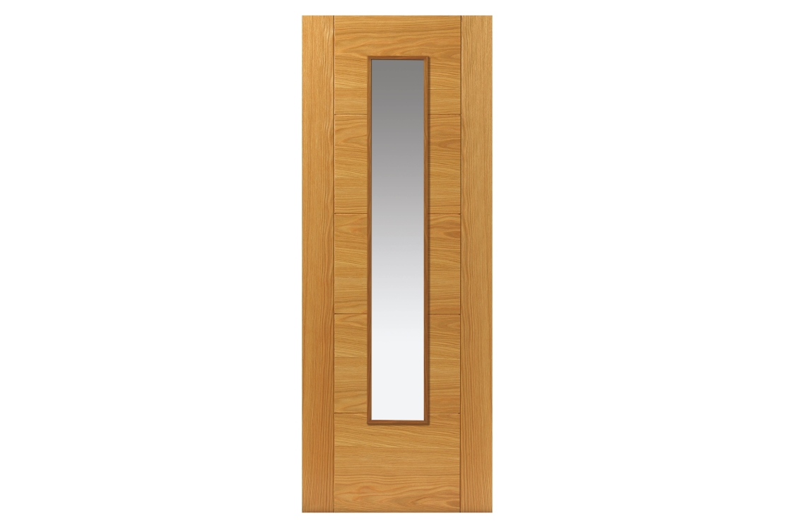 Internal Oak Emral Prefinished Glazed FD30 Internal Fire Door 44 x 1981 x 762mm
