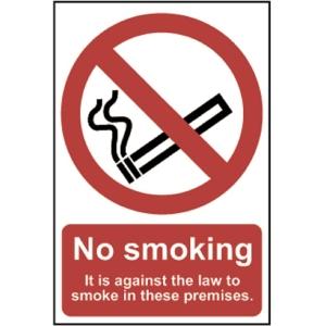 Spectrum No Smoking Sign (English) Law