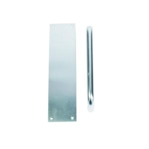 Urfic Pull Handle 229mm with Finger Plate Satin Anodised Aluminium FD142