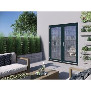 JELD-WEN Bedgebury Hardwood French Doors Grey Finish - 6ft