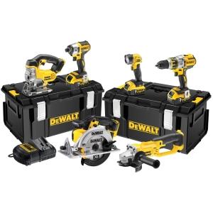 DeWalt 18V Brushless 6PC Kit 3 Spd C/W3 x 5.0AH Batts Charger & Tough System DCK694P3-GB