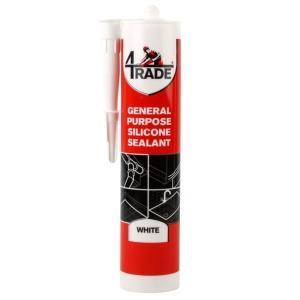 4Trade GP Silicone Sealant White 310ml