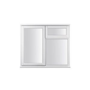 JELD-WEN Stormsure White Timber Window 3 Panel Left And Top Opening 910 x 895mm