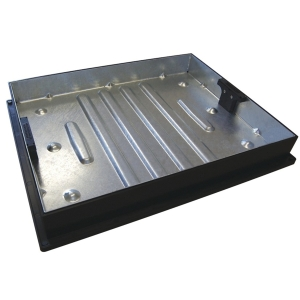 Clark-Drain Galvanised Steel 10 Tonne Manhole Cover and Frame Driveway Block Paviour Recessed Tray 450mm x 600mm
