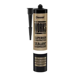 Geocel the Works Pro Superior Construction Sealant & Adhesive Black 290ml