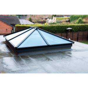 "Vista Contemporary Lantern Rooflight 1500mm x 3000mm (External Measurement), Grey Exterior & White Interior Finish"""