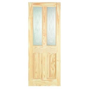 Softwood Pine Victorian Burns 2 Panel Light Glazed Internal Door